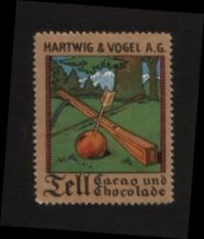 Cinderellas POSTER STAMP William Tell COCOA  #008
